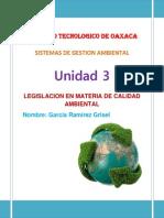 Legislacion en Materia de Calidad Ambiental