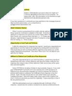 Debt Validation Instructions