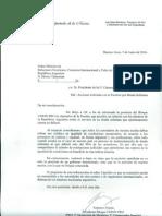Carta al Canciller y al Presidente de la HCDN, por holdouts.