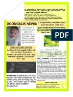 Doongalik Studios May 2014 Art Newsletter
