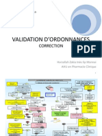 Validation d'Ordonnance 2012 -2013