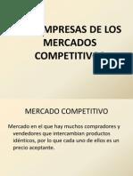 Las Empresas de Los Mercados Competitivos