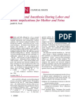 Analgesia and Anesthesia During Labor and Birth Implications for Mother and Fetus