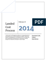 Landed Cost Process