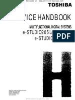 E-Studio 205L, 255, 305, 355, 455 MFP Service Handbook