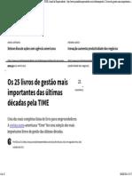 Os 25 Livros de Gestão Mais Importantes Das Últimas Décadas Pela TIME - Jornal Do Empreendedor