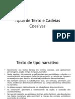 Tipos de Texto e Cadeias Coesivas