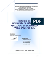 Estudio Ingenieria Metodos Empresa Panes Baba Ali CA