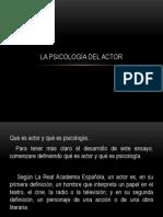La Psicología Del Actor