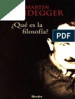 Heidegger Martin - Que Es La Filosofia