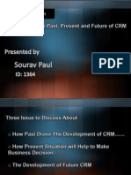 The Past, Present and Future of CRM.ppt