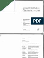 Haessner, Recrystallization of Metallic Materials, 1971