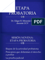 9. ETAPA PROBATORIA