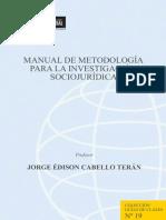 Manual de La Investigación Jurídica