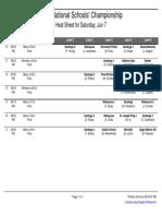 2014 NSRA Heat Sheets