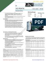 Volvo Diesel Generator p150v Tad720ge