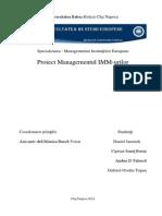 Proiect Managementul IMM-urilor