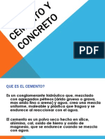 Cemento y Concreto