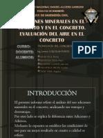 Adiciones Minerales en El Cemento y Concreto-evaluación de Aire en El Concreto
