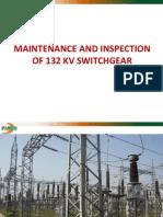 Maintenance of 132 KV Switchgear