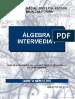 Álgebra Intermedia i Cbc