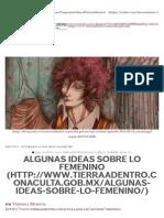 Algunas Ideas Sobre Lo Femenino _ Tierra Adentro