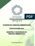 Convocatoria Posgrados en Ciencias Ambientales 2014