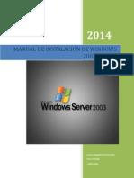 Manual de Instalacion de Windows 2003 Server
