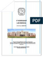 It Workshop LAB MANUAL