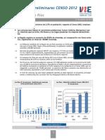 Informe Resultado Preliminar Los Ríos Censo 2012