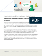 Brandwatch How to Write an Effective Social Media Report