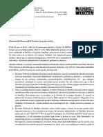Comunicado Elección Del Decano EEGGLL 2014