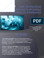 Tehnologiile Informationale Si Aplicatiile Sistemelor Informatice