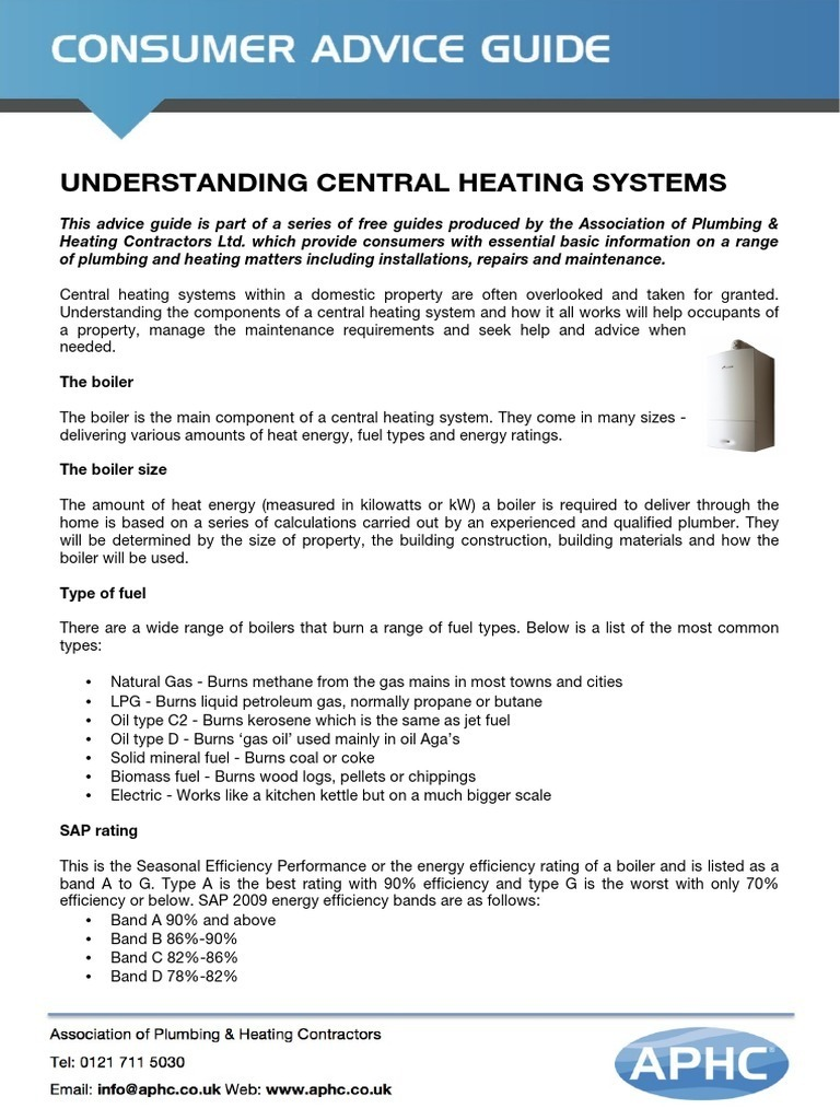Understanding Central Heating Systems | Water Heating | Boiler