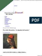 """Pico Della Mirandola y """"La Dignidad Del Hombre"""" – Revista Digital de Humanidades Sarasuati 2.1"""