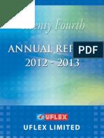 Annual Report Uflex 2013