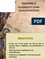 Eligibility and Qualification