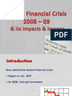 Global Financial Crisis-Impact & Lessons