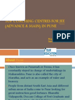 Top Coaching Centres for JEE(Advance & Main) in Pune