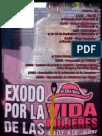 Cartel Éxodo x la vida de las Mujeres, llegada Juarez