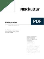 gsmanuskript625 - Vom Schicksal redet keiner mehr - Skript Norddeutscher Rundfunk