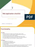 Web Application Checklsit
