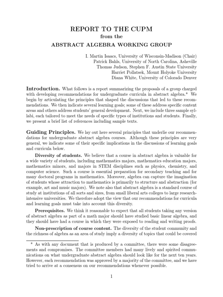 Abstract Algebra Working Group p11 | Group (Mathematics) | Ring  (Mathematics)