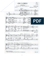 OH LORD Gospelsong Mit Klavierbegleitung Chorpartitur