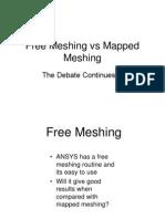 Free Meshing vs Mapped Meshing
