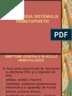 SEMIOLOGIA SISTEMULUI HEMATOPOIETIC