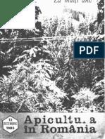 Apicultura in Romania 1985 Nr12 Decembrie
