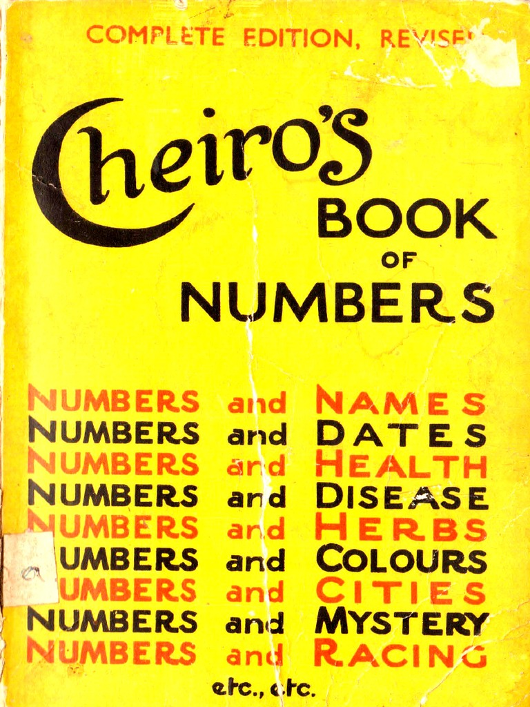 Cheiro S Book Of Numbers