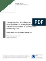 Epilepsi - NICE