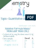IGCSE Chemistry - Quantitative Chemistry